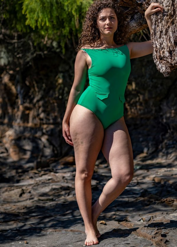 Loren 70'S One Piece Bathers - Jade Peppermint Pebbles Swim