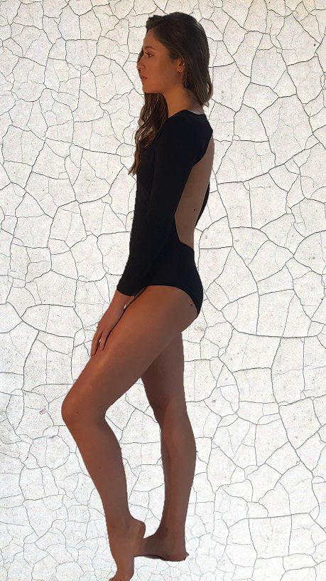 Dyan Surfer Girl Full Piece - Black Peppermint Pebbles Swim