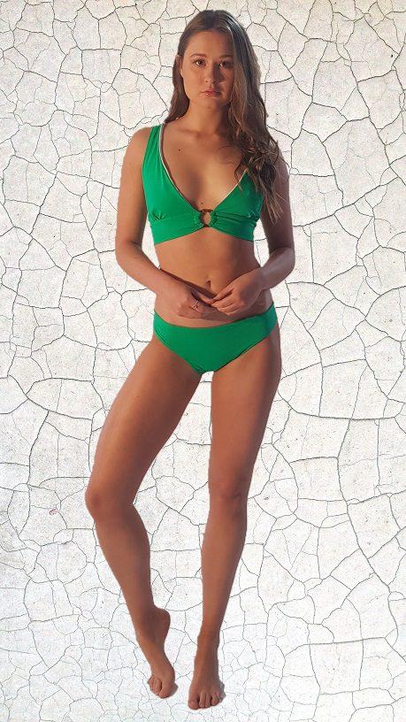 Clark Hip Hugger Bikini Bottom - Jade Peppermint Pebbles Swim