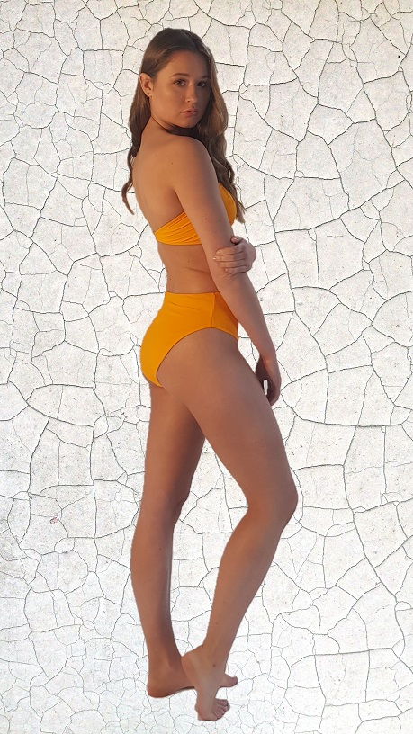 Simone Bandeau Bikini Top - Sunshine Peppermint Pebbles Swim
