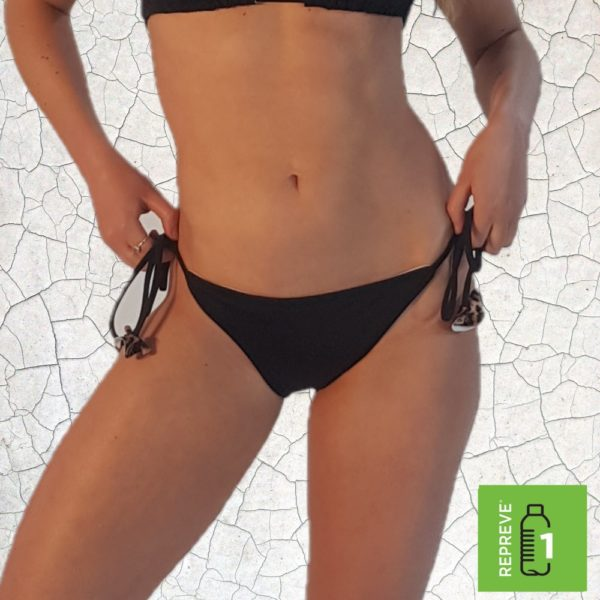 Shirl Triangle Bikini Bottom - Black Peppermint Pebbles Swim