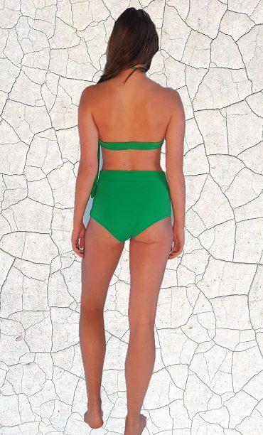 Raquel High Waist Bikini Bottom - Jade Peppermint Pebbles Swim
