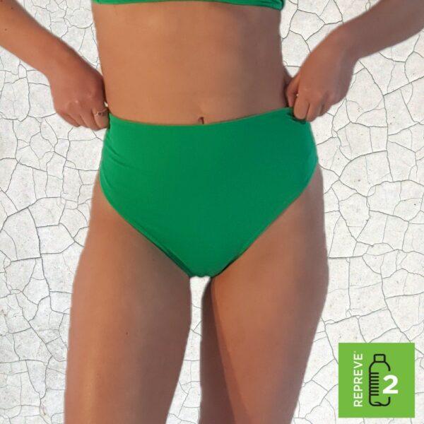 Birkin High Waist Bikini Bottom - Jade Peppermint Pebbles Swim