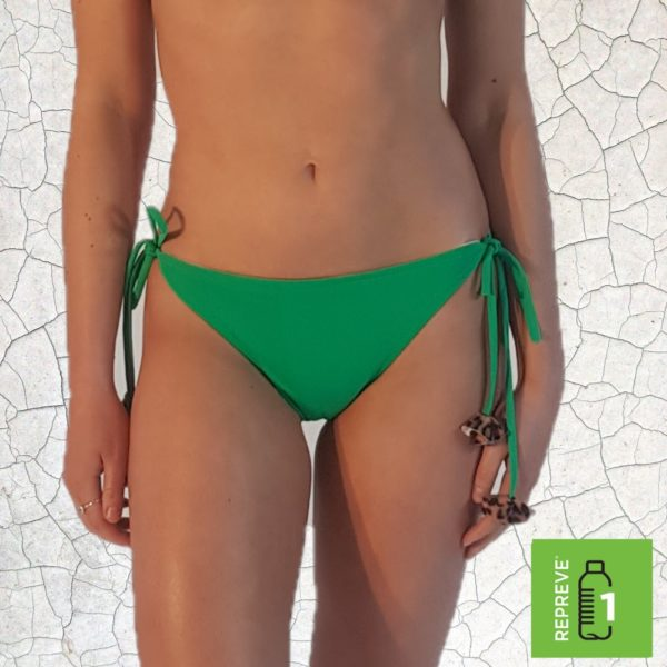 Shirl Triangle Bikini Bottom - Jade Peppermint Pebbles Swim