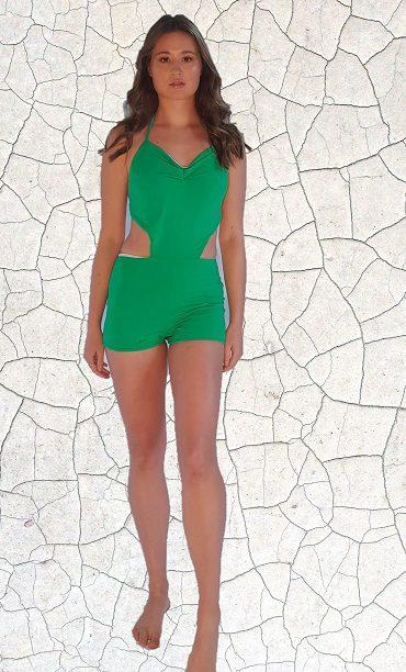 Marilyn Classic Full Piece Bathers - Jade Peppermint Pebbles Swim