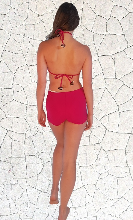 Marilyn Classic Full Piece Bathers - Magenta Peppermint Pebbles Swim