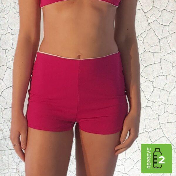 Nanette Shortie Bikini Bottom - Magenta Peppermint Pebbles Swim