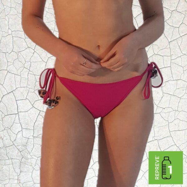 Shirl Triangle Bikini Bottom - Magenta Peppermint Pebbles Swim