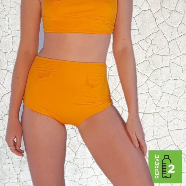 Raquel High Waist Bikini Bottom - Sunshine Peppermint Pebbles Swim