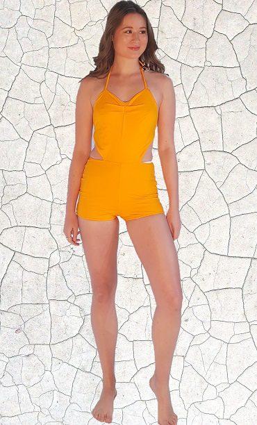 Marilyn Classic Full Piece Bathers - Sunshine Peppermint Pebbles Swim