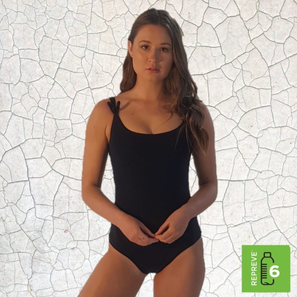Kate One Piece Swimsuit - Black Peppermint Pebbles Swim