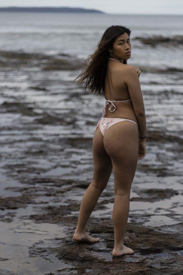 Brazilian Bikini Bottom - Daisies Peppermint Pebbles Swim