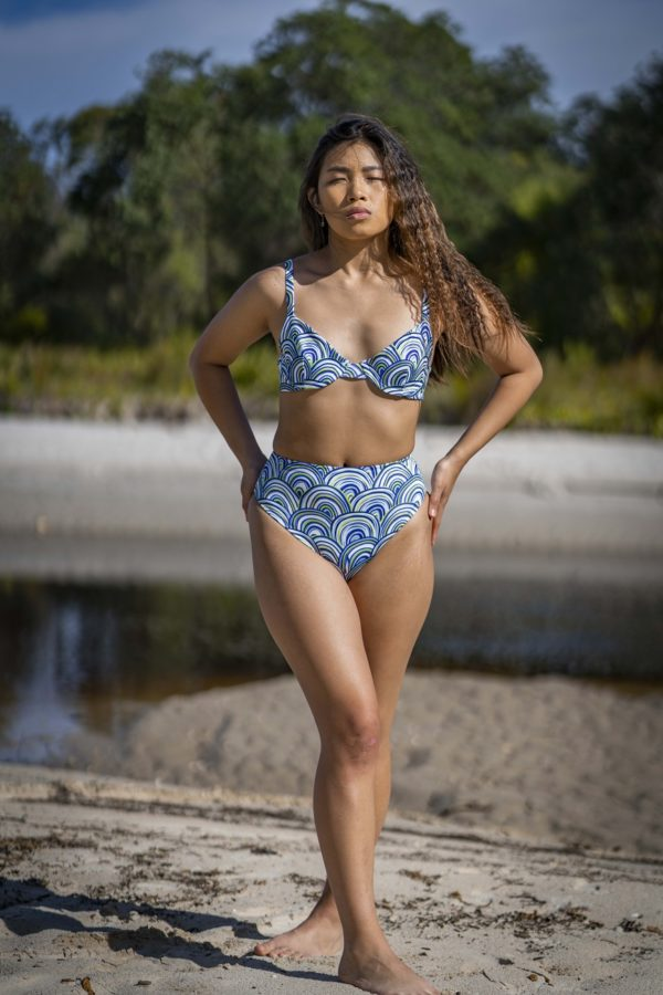U/Wired Bra Bikini Top - Shells Peppermint Pebbles Swim