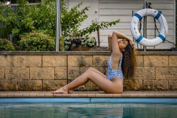 Buckled Strap One Piece Swimsuit - Shells Peppermint Pebbles Swim