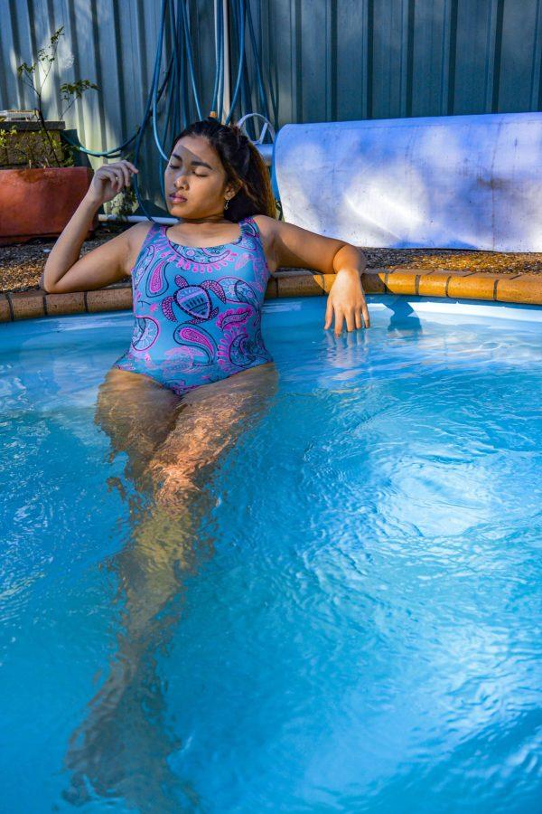 Classic One Piece Swimsuit- Happy Ocean Peppermint Pebbles Swim