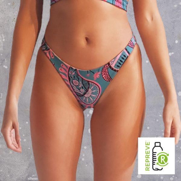 Hipster Bikini Bottom - Happy Ocean Peppermint Pebbles Swim