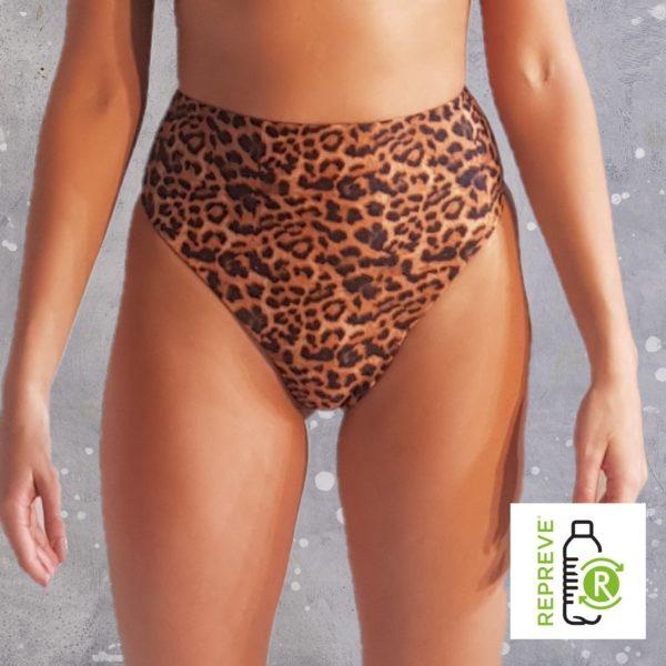 80'S Bikini Bottom - Leopard Peppermint Pebbles Swim