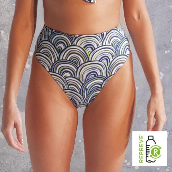 80'S Bikini Bottom - Shells Peppermint Pebbles Swim
